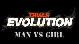 Trials Evolution | Man Vs Girl | Landed on my Noggin | #1