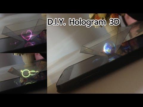 สอนทำที่ฉายภาพ3มิติจากมือถือ (โฮโลแกรม) | Transform your phone into Hologram 3D projector