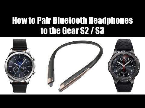how to pair bluetooth headphones to the samsung gear s2 or s3 youtube. Black Bedroom Furniture Sets. Home Design Ideas