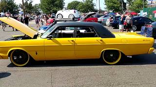 1965 YELLOW BODY BLACK ROOF FORD GALAXIE 500 4 DOOR SEDAN 390 ENGINE