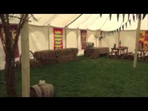 White Canvas Marquee; Medieval Theme Event in UK