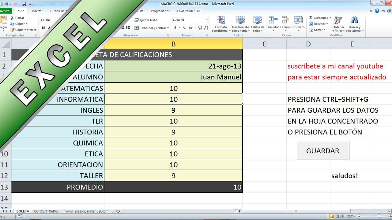 Tutorial Excel - Macro que Copia, Ordena y guarda informacion ...