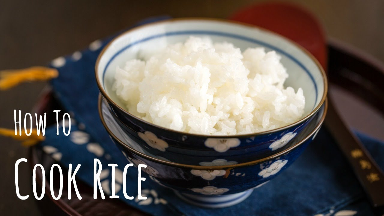 How To Cook Japanese Rice On The Stove Video Just One Cookbook