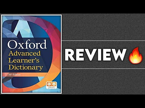 🔥 Oxford Advanced Learner's Dictionary Review || 10th Edition || Best Dictionary Of English ||