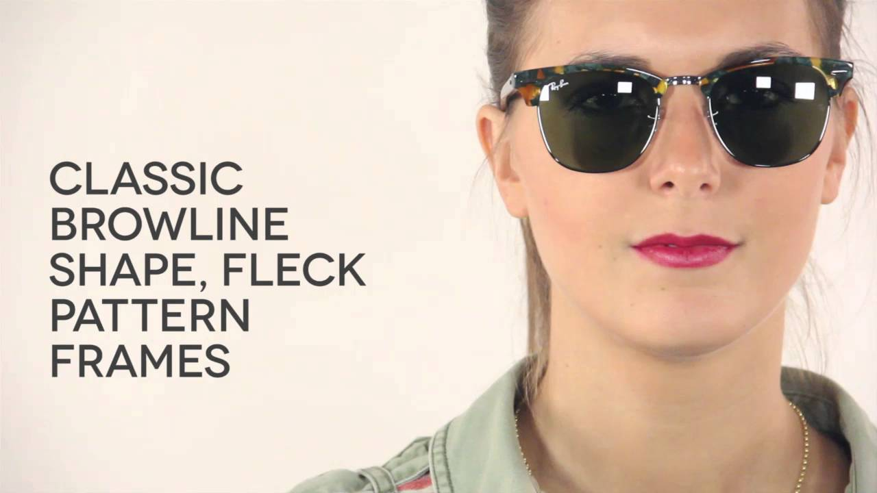 ray ban clubmaster rb3016 sunglasses  Ray-Ban RB3016 Clubmaster Fleck 11594E Sunglasses Review ...