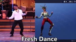 ALL FORTNITE DANCES IN REAL LIFE !!! BRAND NEW *SEASON 3*