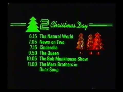 BBC Continuity & Closedown - Christmas Eve 1983
