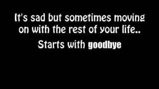 Starts with goodbye- Carrie Underwood Lyrics Video