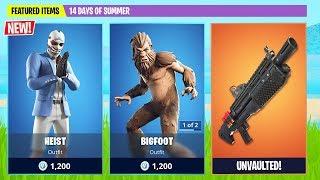 New Bigfoot and Heist Skin! (Fortnite Battle Royale)