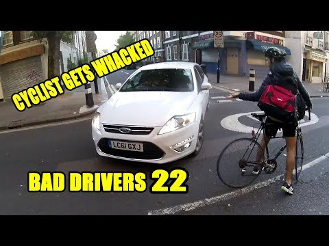 Cyclist Gets Whacked!  - Bad Drivers 22