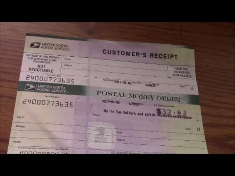 How To Fill Out A Usps Money Order Youtube