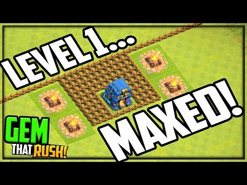 LEVEL 1 ...But MAXED OUT! Clash Of Clans GEM That Rush Episode #7