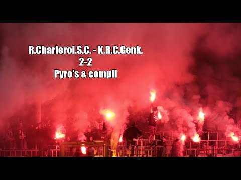 R.Charleroi.S.C. - K.R.C.Genk. 2-2 Pyro's & compil By Julien Trips Photography