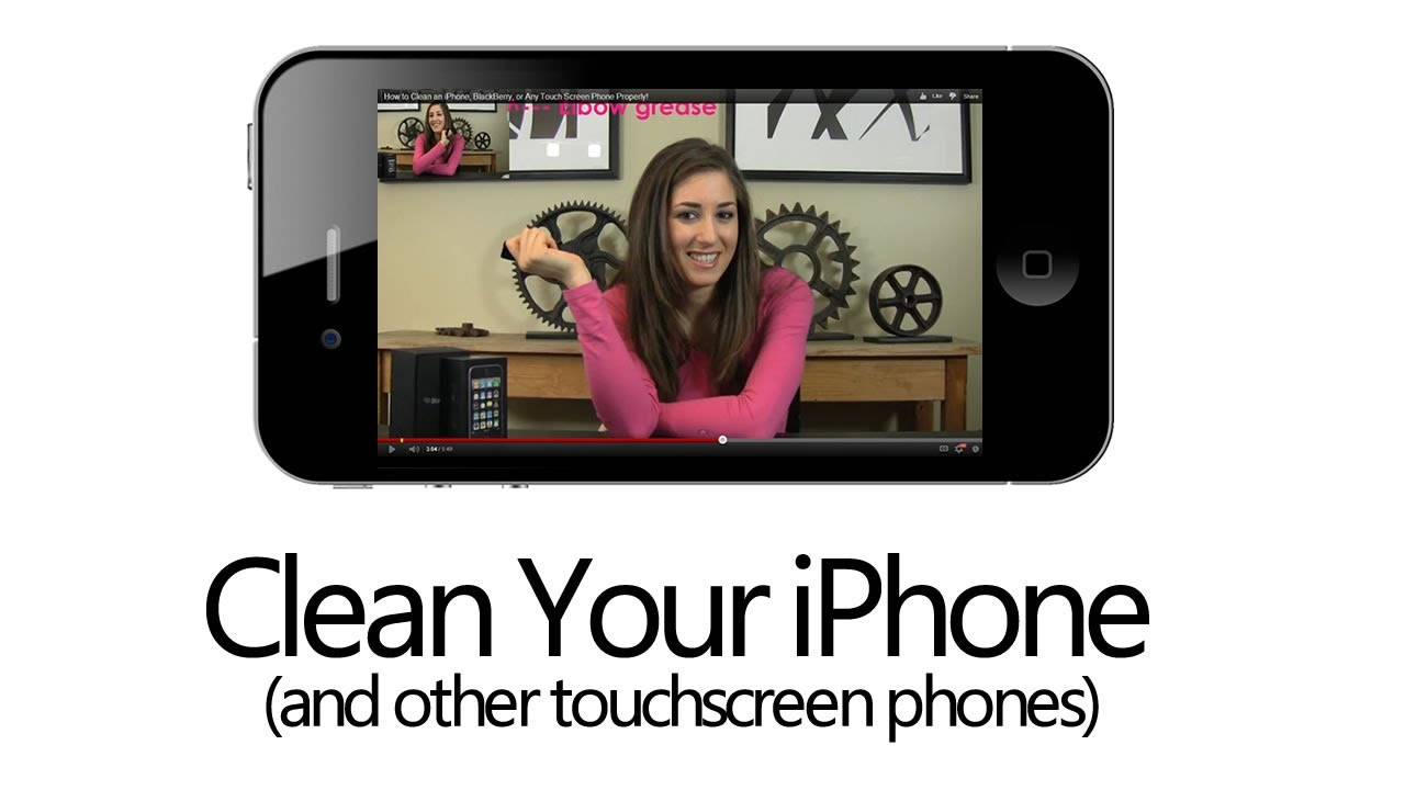 how to clean an iphone blackberry or any touch screen phone properly clean my space youtube. Black Bedroom Furniture Sets. Home Design Ideas