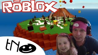 Die or survive on the island-Natural Disaster Survival Roblox | Daddy and Barunka CZ/SK