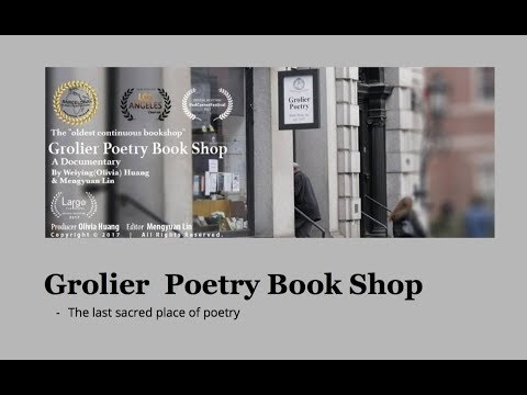 Grolier Poetry Book Shop Trailer 2017