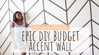 Diy Accent Wall Using Masking Tape|apartment Friendly| Home Office Rentalvation S1 E3