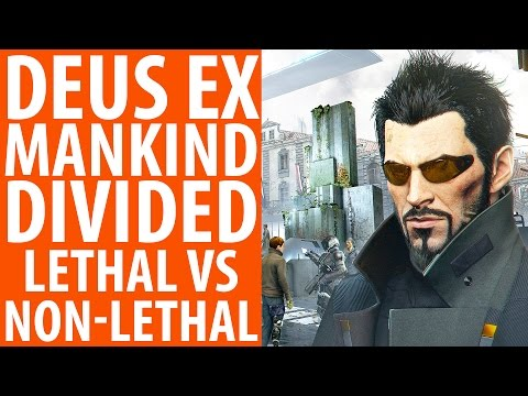 Deus Ex: Mankind Divided lethal vs non-lethal playthrough