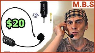 Беспроводной микрофон 2.4 G Wireless Microphone  обзор тест XIAOKOA