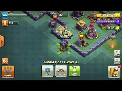 Upgrading ☝ ☝ Guard Post💂 To Maximun Level 8 || Versus Battle Clash Of Clans