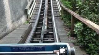 Zipper Dipper Roller Coaster POV Junior Wooden Rollercoaster Blackpool Pleasure Beach Blue Flyer UK