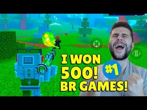I WON 500 GAMES OF BATTLE ROYALE MODE!   Pixel Gun 3D