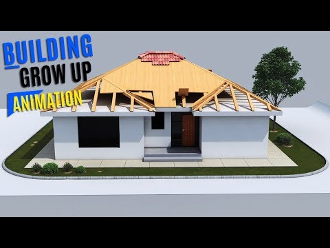 3D House and Residential Build Up Animation