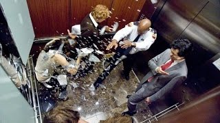 падение лифта видео