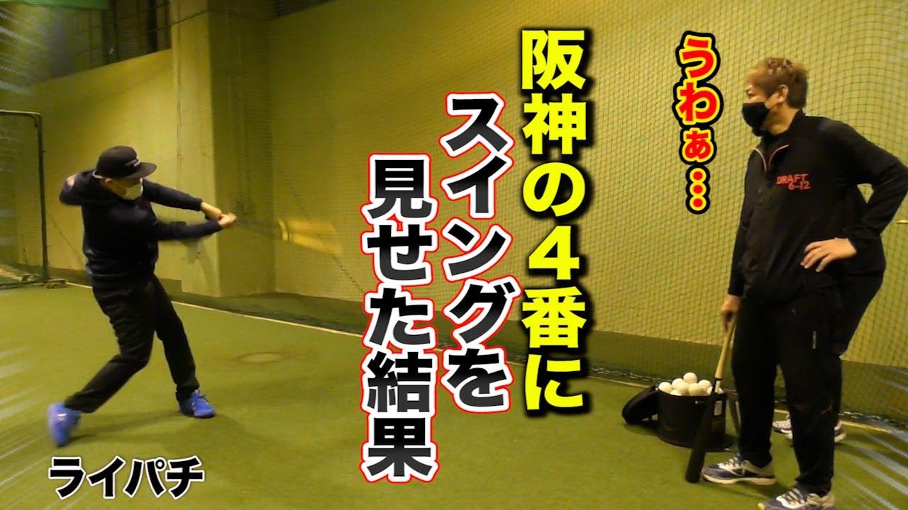 【驚愕】阪神の4番にライパチのスイングを見せた結果…|トクサンTV