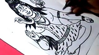 How to Draw LORD SHIVA DRAWING step by step for kids