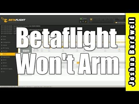 Quadcopter Won't Arm | CLEANFLIGHT...