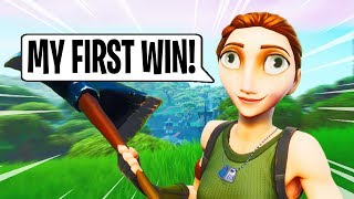 Getting The NICEST DEFAULT His First Win in Fortnite!