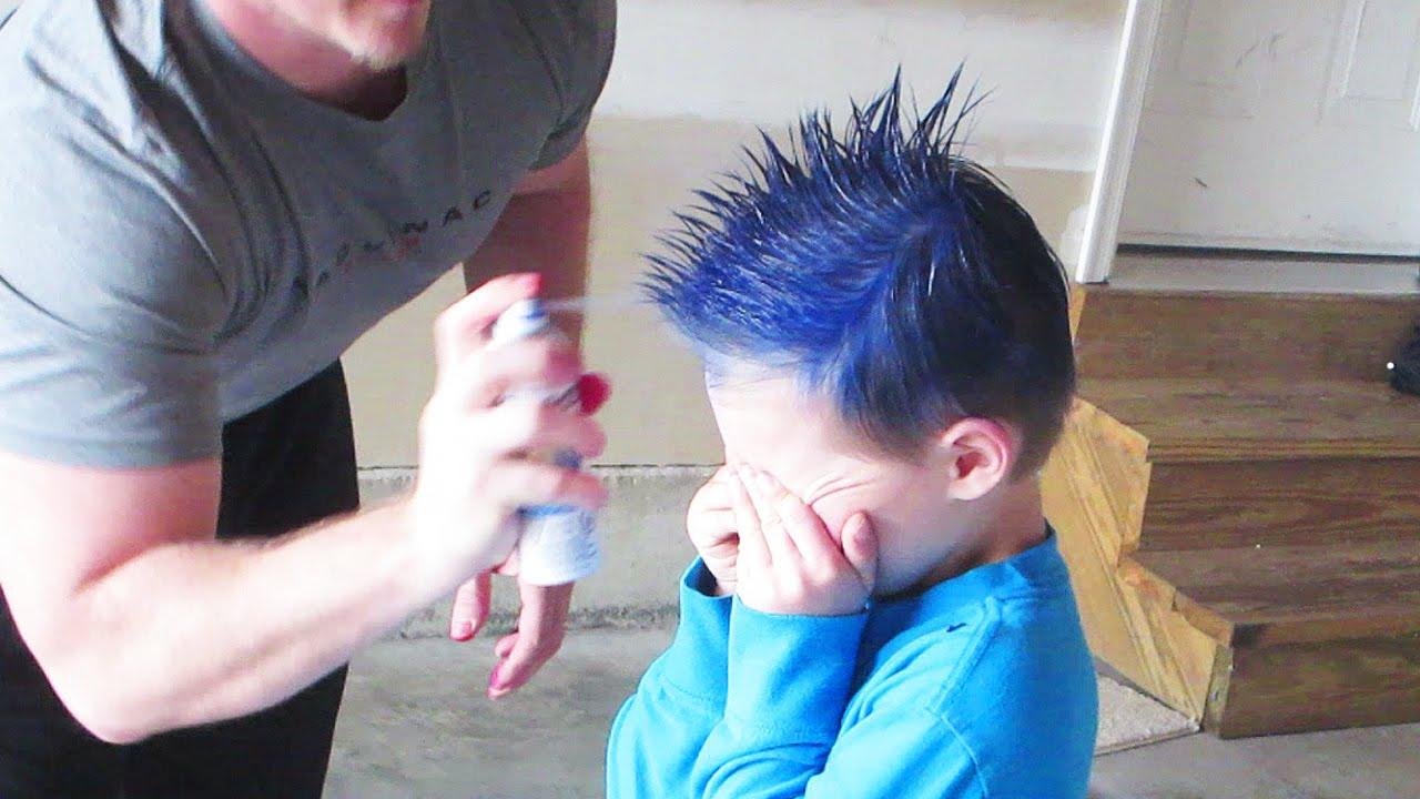 SPRAY PAINTED HAIR