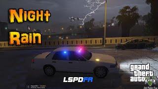 LSPDFR | NIGHT RAIN LIGHTNING | GTA 5 POLICE MOD