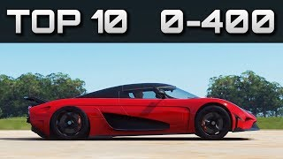 TOP 10 FASTEST 0-400 CARS | Forza Horizon 4 | Crazy Accelerations!