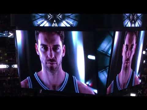2017-18 Spurs Player Intro- Tony Parker Returns