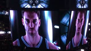 2017-18 Spurs Player Intro- Tony Parker Returns