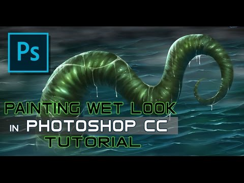 Digital Painting - Photoshop Tutorial - Wet and Glossy Effect