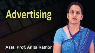 What is Advertising ? The 5 M's of advertising || Asst. Prof Anita Rathor