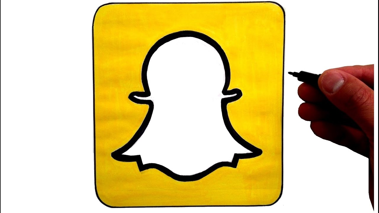 How to Draw the Snapchat Logo - YouTube