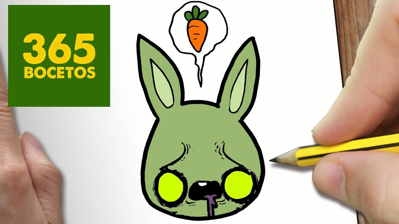Como dibujar conejo zombie kawaii paso a paso dibujos kawaii faciles how to draw a rabit - Dessin de lapin facile ...