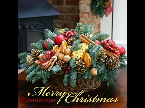 christmas flower arrangements and decorated christmas trees for online sale in london uk youtube