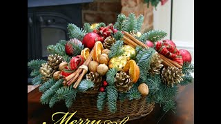 Christmas Flower Arrangements and Decorated Christmas Trees for Online Sale in London, UK