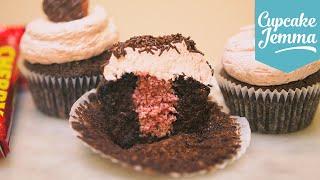 Chocolate, Cherry & Coconut Valentines Cupcake Recipe  Cupcake Jemma