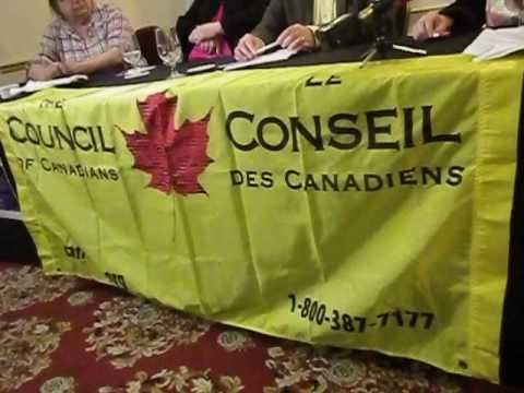 The Council of Canadians launch News Conference  - The Harmony Project in Fredericton