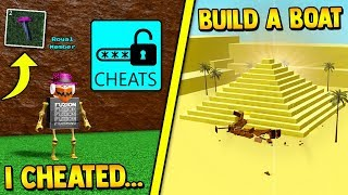 using CHEATS to WIN in Build a boat | ROBLOX