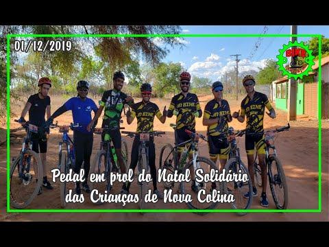 Pedal em prol do Natal Solidário em Nova Colina - Boninal - Bahia