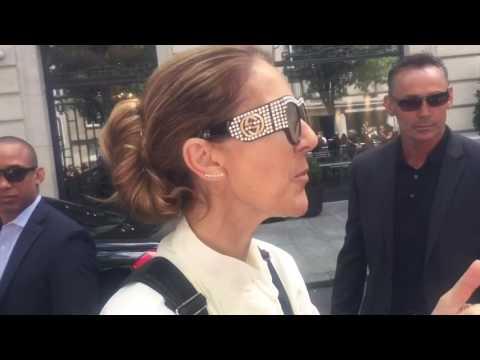 Celine Dion a Paris le 25/06/2017 à 14:07