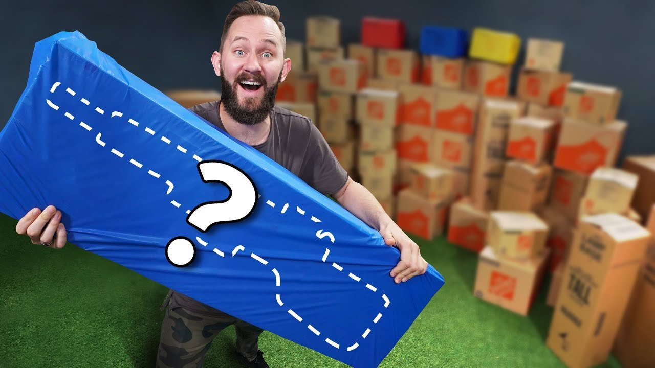 Nerf 100 Mystery Box Challenge Youtube