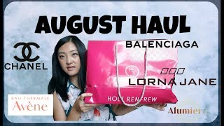August Haul-Chanel, Avene Mineral Sunscreen, Alumier MD, Lorna Jane Active Wear, Balenciaga